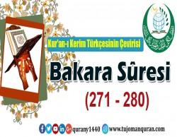 Kur'an-ı Kerim Türkçesinin Çevirisi -  Bakara Sûresi ( 271- 280)