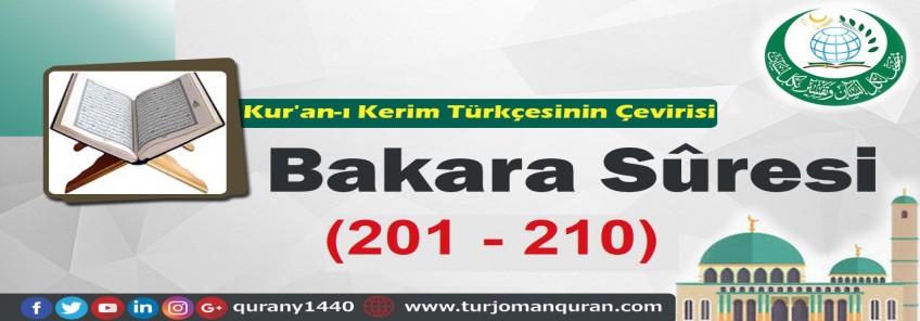 Kur'an-ı Kerim Türkçesinin Çevirisi -  Bakara Sûresi ( 201- 210)