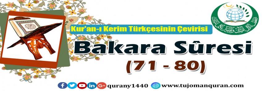 Kur'an-ı Kerim Türkçesinin Çevirisi-  Bakara Sûresi